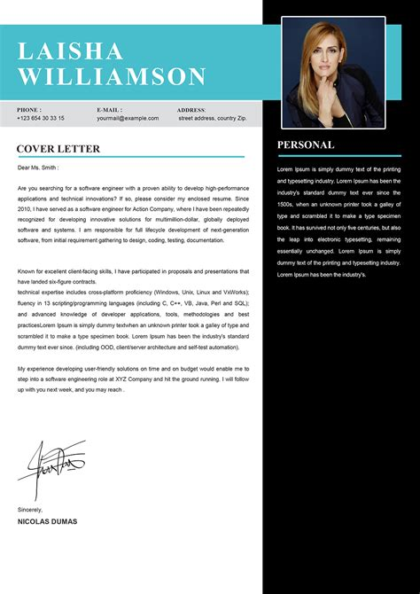 Caregiver Cover Letter Example Example - Cover Letter