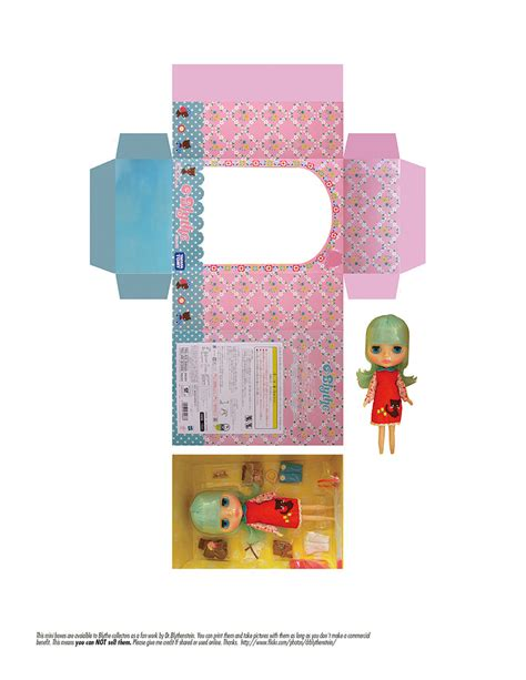 Quirky Artist Loft: Free Papercraft: Mini Blythe Boxes