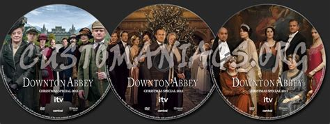 Downton Abbey Christmas Specials dvd label - DVD Covers