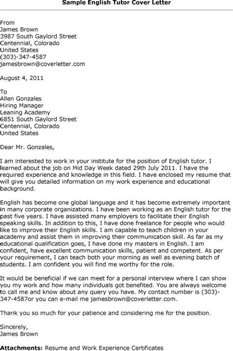 Letter in english to get a job example