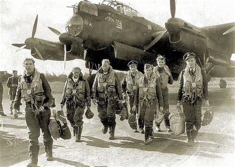 piston wings — snafu65: A RAF Bomber Crew Returning From A