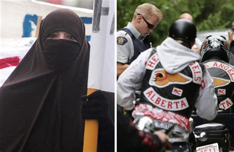 What do conservative Muslims and the Hells Angels have in